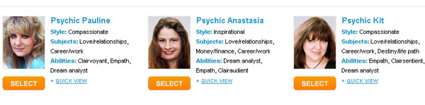 Available Mediums at California Psychics