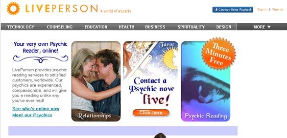 Liveperson Psychics network